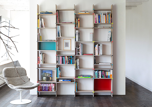 Bücherregal System st16 expandable modular storage system